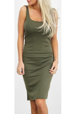 Simpel Basic Dress - Khaki