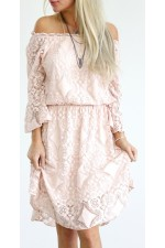 Sophia Lace Dress - Rose