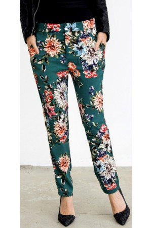 Klara Flower Pants - Green