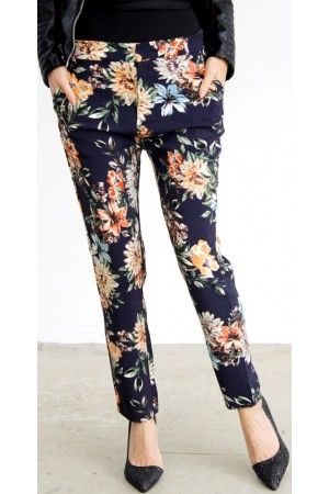 Klara Flower Pants - Marine