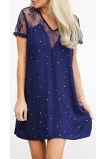 Biana Short Dress  - Marine