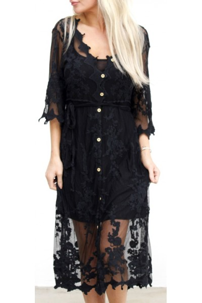 Pino Lace Dress - Black