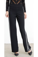 Sindie Stripe Pants - Black