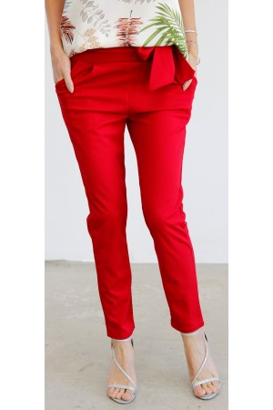 Miri Soft Pants - Red