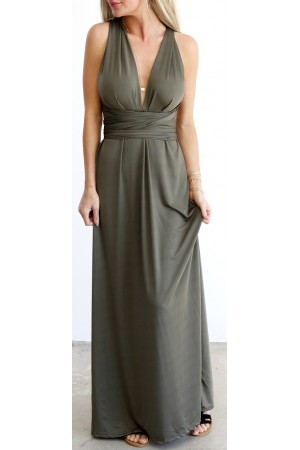 Tilde Long Dress - Khaki