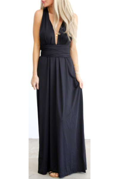 Tilde Long Dress - Black
