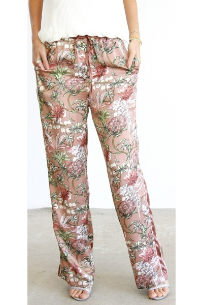 Sisja Satin Pants - Old Rose