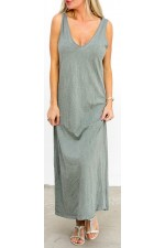 Aya Long Dress - Dust Khaki