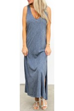 Aya Long Dress - Dust Blue
