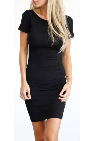 Elly Short Dress - Black
