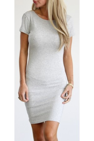 Elly Short Dress - Grey