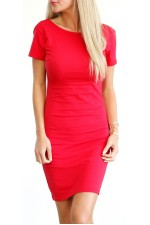 Elly Short Dress - Red