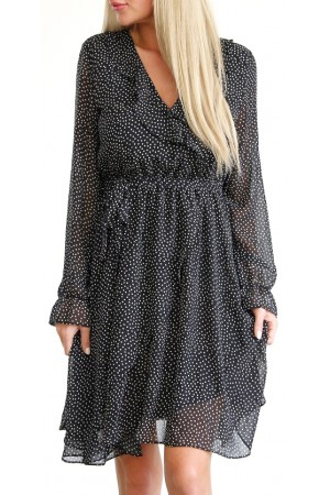Litia Dot Dress - Black