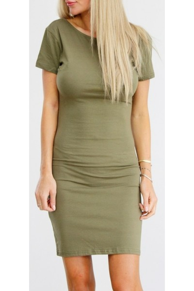 Elly Short Dress - Khaki