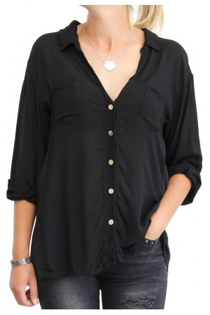 Amina Shirt- Black