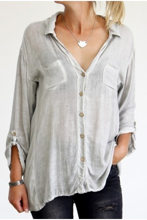 Amina Shirt- Light Grey
