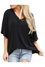 Ania Shine Shirt - Black