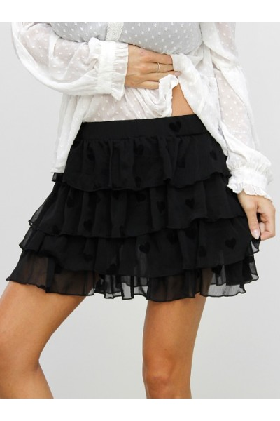 My Heart Skirt - Black