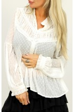 Sheila Dot Shirt - White