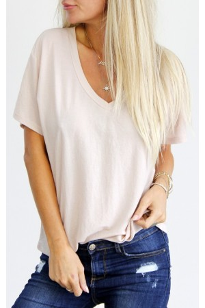 Wana Basic T-Shirt - Light Rose