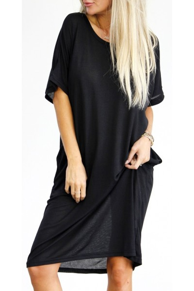 Emma Oversize Dress - Black