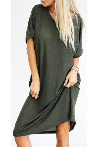 Emma Oversize Dress - Khaki