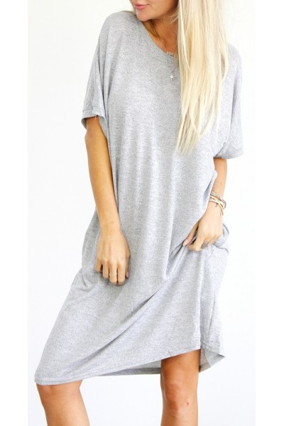 Emma Oversize Dress - Grey