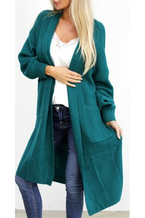 Pama Long Cardigan - Green