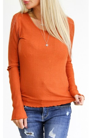 Lulli Basic Shirt - Hot Orange