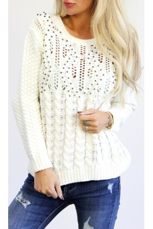 Melba Knit - White