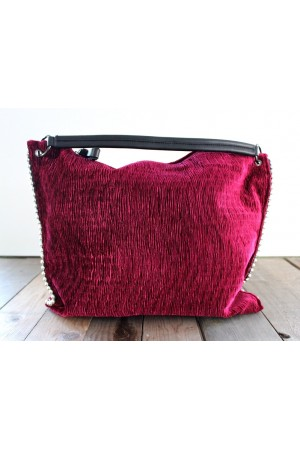 Tico Velour Bag - Bordeaux