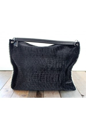 Tico Velour Bag - Black