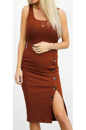 Kaily Dress - Rust