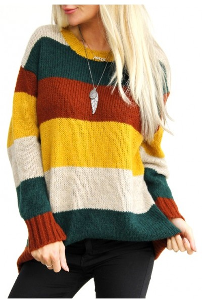 Albi Stripe Knit - Green