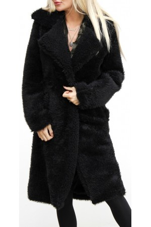 Fluffy Soft Jacket - Black