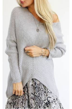 Judi Knit - Light Grey