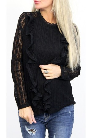 Sally Lace Shirt - Black