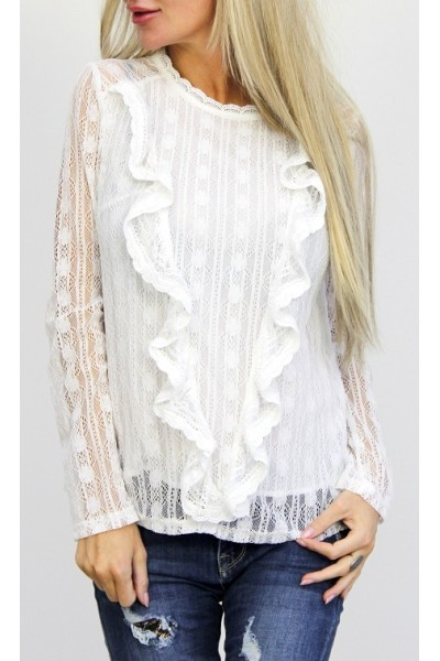 Sally Lace Shirt - White