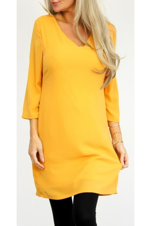 Klaria Dress - Curry