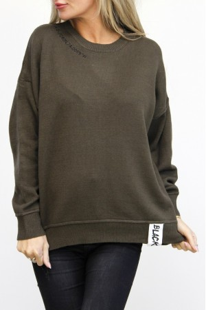Black Knit - Khaki