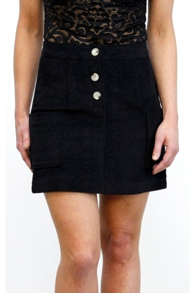Vilo Velvet Skirt - Black
