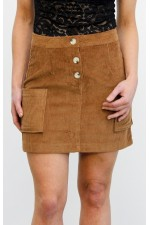 Vilo Velvet Skirt - Brown