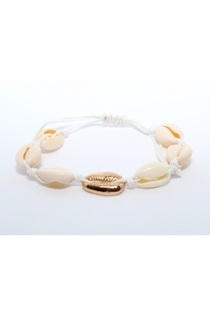 Stars By P - Shell Bracelet - White