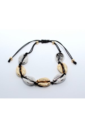 Stars By P - Shell Bracelet - Black
