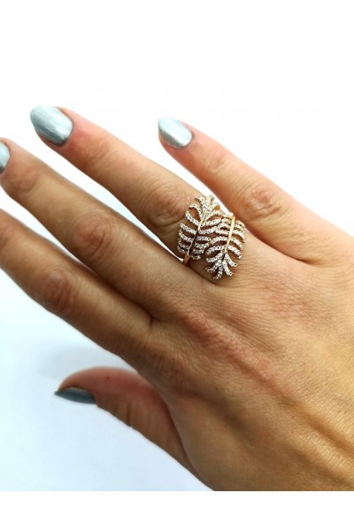 Stars By P - Leaf Ring - Gold