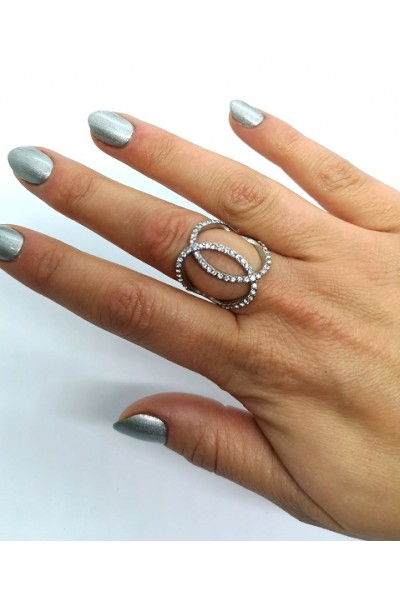 Stars By P - Cross Ring - Silver