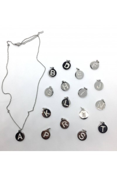 Stars By P - Letter Necklace - Silver