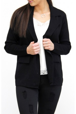 Zala Knit Blazer - Black