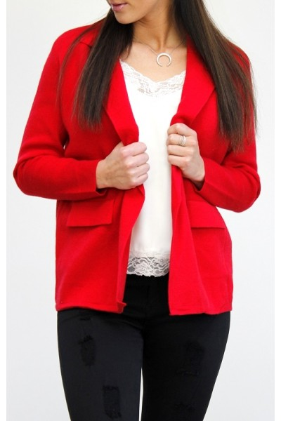 Zala Knit Blazer - Red