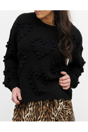 Heart Knit - Black